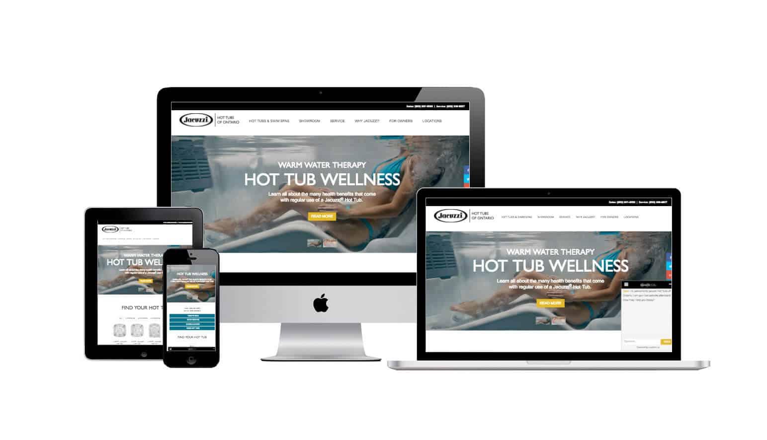 jacuzzi Ontario web launch