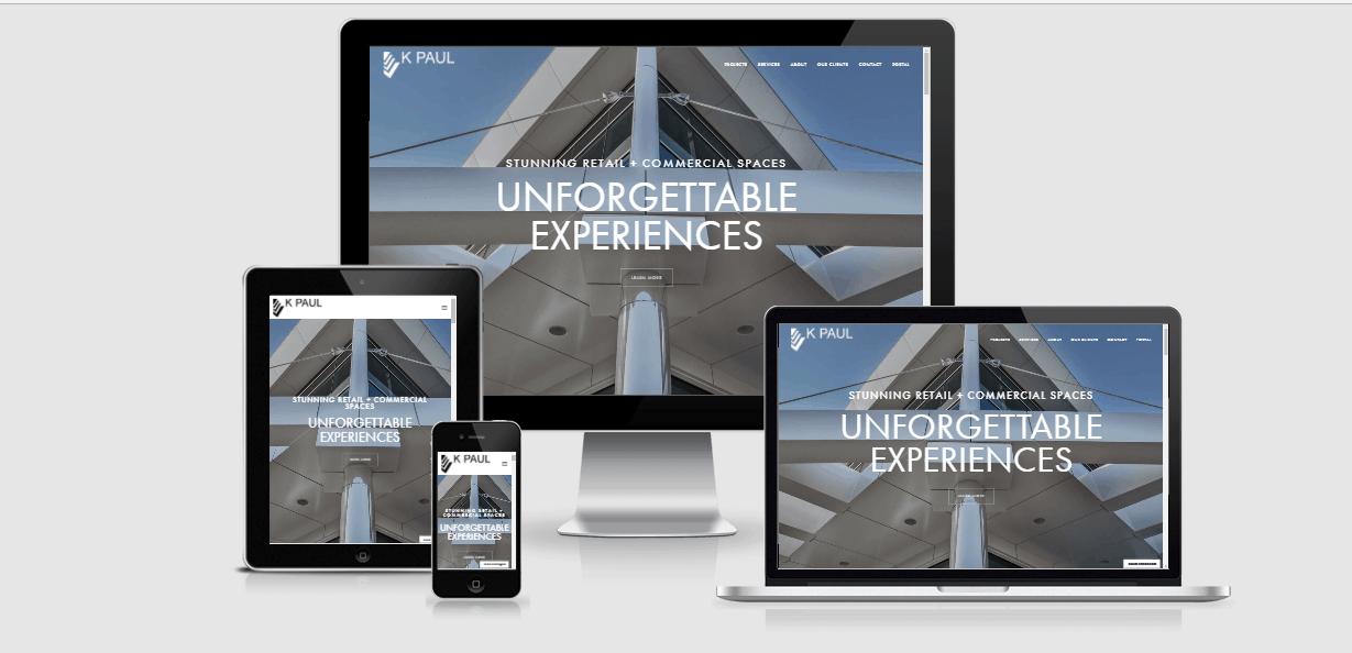K Paul website design