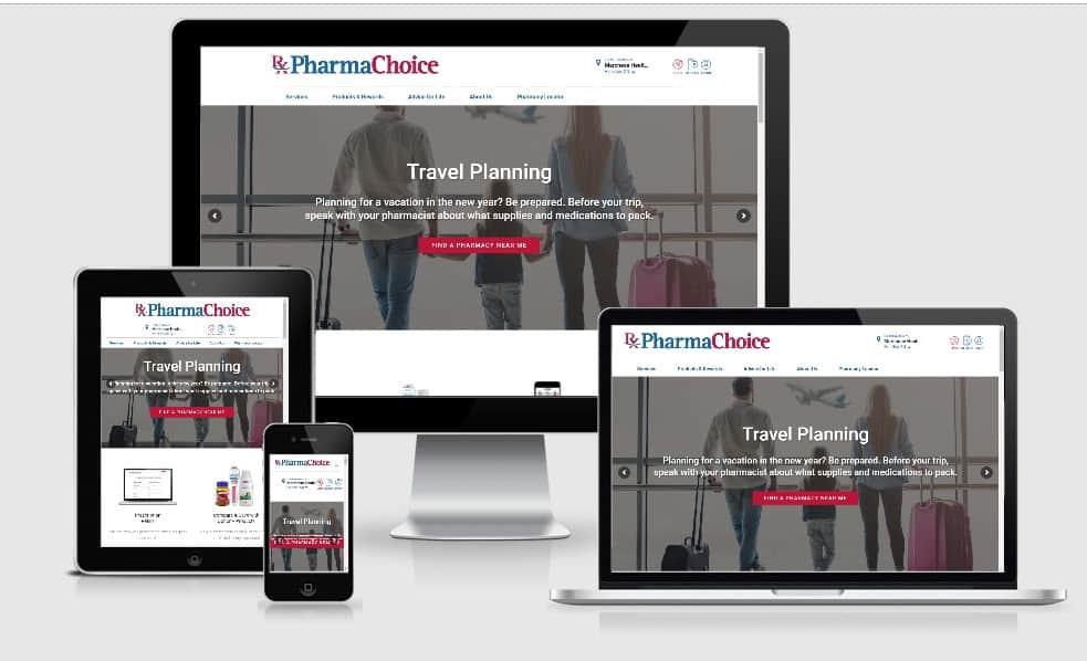pharmachoice website design